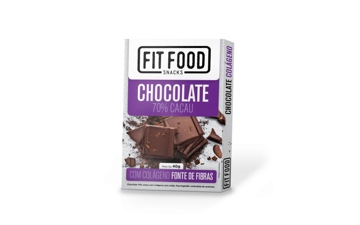 Chocolate 70% Colágeno Fit Food 40g